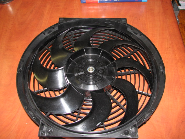 S Blade fan for Lexus V8 conversion 12volt blow type.