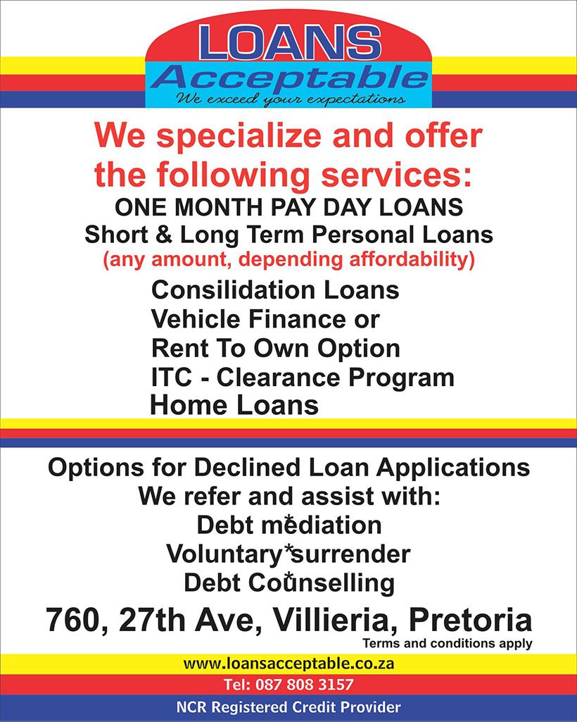 Loans Acceptable